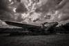 (Rodney Harvey) Tags: abandoned louisiana airplane plane flight infrared rural decay crash blackandwhite stormy skies
