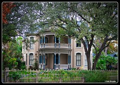 Ike West Home (PEN-F_Fan) Tags: sanantonio texas unitedstates kingwilliamdistrict historic tree fence yard architecture ikewesthome secondempirestyle architect smithellis luminar on1photoraw2018 border edge frame postprocessing window building