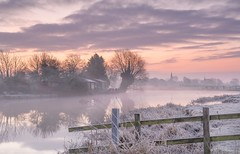 A Winters Dawn (Captain Nikon) Tags: zouch notts nottinghamshire riversoar river misty mist frosty frost freezing cold winter seasons beautiful serene serenity tranquillity england church churchsteeple reflections moody atmopsheric silhouettes greatbritain uk myfavouritelocations landscapephotographer landscapephotography outdoorphotography landscapes nikon