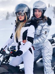 lacroix and skea suits white black silver (skisuitguy) Tags: skisuit snowsuit ski snow suit skiing skifashion skiwear skioutfit skibunny snowbunny onepieceskisuit onepiecesuit onesie onepiece skidress skianzug