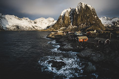 House 2 is always lucky.. (kolja_wi) Tags: norway lofoten landscape wallpaper beach color sony a6000 nature blue red dark moody sea rocks mountain explore winter ice sunrise sun peak sunset islands samyang norge hamnoy snow travel