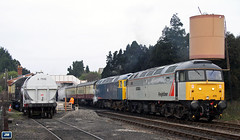 47376+47105 GWR Toddington 061227 (jim40135) Tags: class47 brushtype4 47376 gloucestershirewarwickshire gwr freightlinergrey