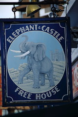 Pub sign for the Elephant & Castle. (Peter Anthony Gorman) Tags: pubsigns elephantcastle woolwichpubs londonpubs