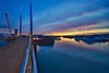 Harbour bridge (Nige H (Thanks for 12m views)) Tags: nature landscape seascape bridge boats harbour marina sunset sky clouds water reflection torquay devon england winter wintersunset