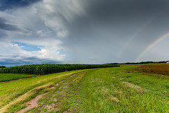 Double rainbow - Pendleton, S.C. (DT's Photo Site - Anderson S.C.) Tags: canon 6d 1740mml lens pendletonsc simpson exp station rural country weather rainbow rain fading storm thunder cloud corn farm scenic america usa nature beautiful color southernlife
