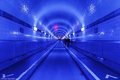 Blue Port Hamburg (peterkaroblis) Tags: blue port hamburg blueporthamburg alterelbtunnel tunnel tunnelvision elbe lichtkunst lightart