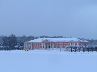the palace in winter