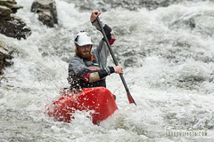 Winter Whitewater Canoeing (Brad Lackey) Tags: whitewater canoe canoeing creek water rapids flow paddle paddlesports gnarlzoutdoors silverbirchcanoes nrs winter cold cloudy action fast determination bokeh nikon70200mmf28 d7200