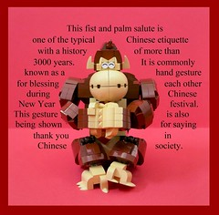 Greeting gesture (vincentkiew) Tags: thankyou chinesenewyear ape monkey cny gongxifachai gesture