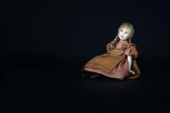 Porcelain (hehaden) Tags: doll girl plaits porcelain handmade janedavies blackbackground sel90m28g