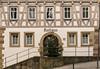Das Rathaus in Korb (Gerosas) Tags: architektur bedeckt dezember fachwerk haus historisch kalt korb rathaus remsmurrkreis weihnachten weihnachtsbaum windig winter