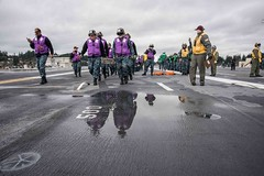 USS John C. Stennis conducts a fire fighting and mass casualty drill. (Official U.S. Navy Imagery) Tags: ussjohncstennis cvn74 bremerton wash unitedstates