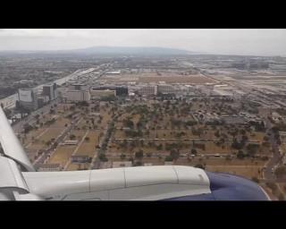 Landing at Los Angeles