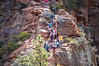Peaks Beginning (twinblade_sakai340) Tags: adventure angel fun hike hiker hiking landing landscape mountain mountains national nature outdoor outdoors park slot utah wall zion