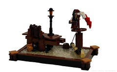 Cap'n Jack Arrives in Port Royal (NS LEGO Designs) Tags: nslegodesigns nsbrickdesigns lego moc myowncreation build model creation piratesofthecaribbean captainjacksparrow pirates portroyal british dock ship boat water platform