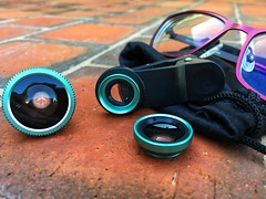 Lenses (Aussie~mobs) Tags: fisheye wideangle lens smartphone clipon glasses attachment