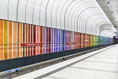 Rainbow (=ROB=) Tags: colourful colorful metro subway underground munich dülferstrase rainbow