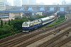 Departure from Shanghai (westrail) Tags: df11 china chinarailways shanghai railwaystation hauptbahnhof fuji fotograf andreasberdan fujifilmfinepixs3pro lok lokomotive diesellok locomotive