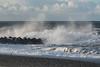 and more splash (hanschristian_nielsen) Tags: ferringstrand ferring jylland jutland denmark vesterhavet northsea wave sea shore beach sky clouds water wind seagull bird groyne storm
