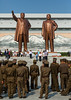 North Korean soldiers in front of the statues of the Dear Leaders in Mansudae Grand monument, Pyongan Province, Pyongyang, North Korea (Eric Lafforgue) Tags: adultsonly architecture armedforces army asia colourimage communism cultofpersonality dailylife day dictator dictatorship dprk eti5945 groupofpeople ideology kimilsung kimjongil mansuhill mansudae mansudaehill memorial men military monument nationallandmark northkorea northkorean outdoors patriotism people propaganda pyongyang soldiers statue traveldestinations uniform vertical women pyonganprovince 北朝鮮 북한 朝鮮民主主義人民共和国 조선 coreadelnorte coréedunord coréiadonorte coreiadonorte 조선민주주의인민공화국 เกาหลีเหนือ קוריאההצפונית koreapółnocna koreautara kuzeykore nordkorea північнакорея севернакореја севернакорея severníkorea βόρειακορέα