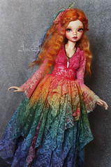 Rainbow Fall (AyuAna) Tags: bjd ball jointed doll dollfie ayuana design handmade ooak clothing clothes dress set outfit fashion couture sewing crafting dolldesign slim msd mnf minifee fairyland size daraki remy light tan skin
