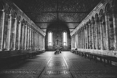 Crushing silence (nihilsineDeo) Tags: france refectory couvent church bw blackandwhite canon silence empty emptiness amazing mont saint michel normandy normandie north columns spooky