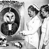 Nurses visit the Doctor Owlsley shrine at Everbleak Hospital (Flamenco Sun) Tags: disturbing death skull mouse shrine barnowl owl weird hospital nurses