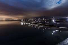 Light Spirals @West Kirby #1 (Rob Pitt) Tags: west kirby lightpainting torch waving spiral boardwalk tokina 1116 f28 750d wirral rob pitt photography canon twilight
