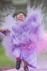 Pure Bliss (Kyle William Russell) Tags: explore photo photography russell kyle beautiful wonderful amazing powder knows eyes mouth portrait face grin play dust chalk shoelaces shoe recreation joy perfect timing blast kid smirk smile boy shirt long purple enjoyment happiness bliss color colors run race fun child children kids expression illinois
