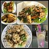 2018 Sydney Lunch collage (dominotic) Tags: 2018 lunch food friedwontons vietnamesebeefcurry tempuracalamari lemongrasschickenwithsteamedrice freshlemondrink asianfood marrickville innerwestsydney collage iphone8 sydney australia