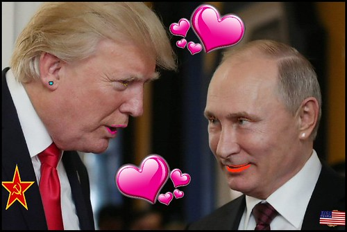 From flickr.com: Trump-Putin Love.  No further comment is necessary., From Images
