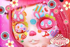 Usagi Chan (♥ Caramelaw ♥) Tags: caramelaw caramelpops doll dolls blythe blythes custom ooak customized customised cute kawaii rainbow candy bunny rabbit usagi clown circus pullip