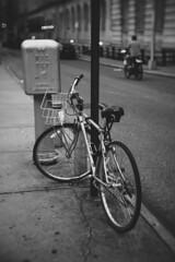 SoHo Bicycle (joko2190) Tags: bicycle nyc soho new york city vintage fotasy 35mm black white chrome street photography