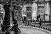 Sous l'eau! / Under water (vedebe) Tags: fontaine eau pluie humain human homme people ville street rue city urbain urban noiretblanc netb nb bw monochrome aixenprovence aix provence