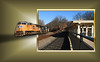 Passing Through (Jen_Vee) Tags: trains freight afternoon long railways railroad oob outofframe trainstations historic washington columns restored museum photoshop edit microsoft corel