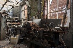 Old workshop (Camera_Shy.) Tags: textile mill yorkshire derelict abandoned old tresspassing industrial exploration urban machinery industry building decay disused factory cotton lathe workshop decayed ue rotten urbex nikon d8