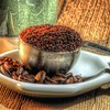 In the Raw, 9/100x (clarkcg photography) Tags: coffee bean scoop measurement heap heaping heaped cup table board macro squaremacro macrowednesday wednesdaymacro 7dwf 100xthe2018edition 100x2018 image9100 225inchx225inch 58mmx58mm beans