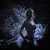 Splash (LalliSig) Tags: fashion blue black white gray low key silhouette water frozen motion freeze people portrait portraiture profoto b4 stop