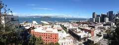 Panoramic view of San Francisco Bay from Calhoun Terrace (procrast8) Tags: san francisco ca california calhoun terrace bay oakland bridge treasure island yerba buena embarcadero ferry building center pier