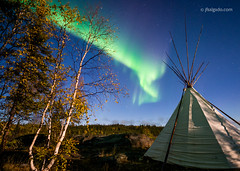 Borealis Science & Photo Tour (josefrancisco.salgado) Tags: 1424mmf28g d4 nikkor nikon northernlights astronomy astrophotography aurora auroraborealis aurorae auroras cielonocturno estrellas longexposure moonlight night nightsky stars tepee borealforest astronomía astrofotografía exposiciónlarga
