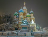 Saint Basil's Cathedral (Tony_Brasier) Tags: moskva moscow russia ru cold location red square snow samsung s7 night trees kremlin