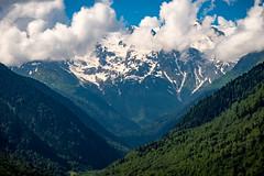 Caucasus mountain range in Svaneti region, Georgia (CamelKW) Tags: georgia june2017 caucasus mountainrange svanetiregion