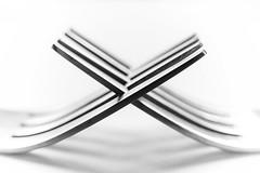 Monochrome (saavedl) Tags: forks highkey macro xt20 monochrome bw bn blackandwhite bokeh fork lines abstract geometry shapes texture symmetry macromondays