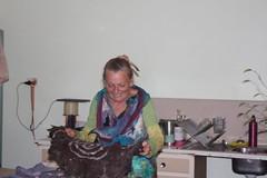IMG 8586 (Eminpee Fotography) Tags: felting friends people craft fibreart wool