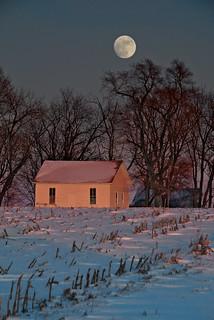 Moon over Jackson School