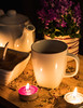 Tea time (borislav.v.petrov) Tags: tea cup flower sugar light candel herbs kettle
