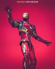Iron Man (IN EXPLORE) (I AM LESLIE) Tags: captainamerica avengers marvel ironman ironmanmk46 red infinitywar sony 90mm macro cosplay vignette portrait inexplore
