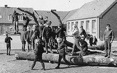 It just fell down (theirhistory) Tags: children kids boys school trousers jumper wellies jacket boots girl building