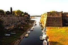 Corfou (Pimenthe) Tags: city water ocean travel island beautiful boats nature walls castle corfu greek greece landscape sunny sunshine