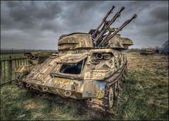 Duxford Guardian (Darwinsgift) Tags: duxford imperial war museum anti aircraft guns tank rust abandoned wreck nikon d850 hdr photomatix nikkor pc e 19mm f4